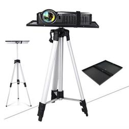 """21-55"""" Adjustable Projector Tripod Stand Floor Holder with M"""