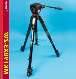 "Manfrotto 190X 67"" 3-Section Aluminum Video Tripod & MHXPRO-"