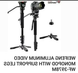 Weifeng 3978M Portable DSLR Video Camera Aluminum Monopod Tr