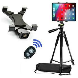 "60"" Professional Camera Tripod with Tablet Mount & Wireless"