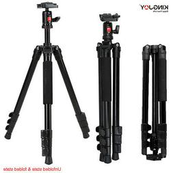 "KingJoy 61"" PRO Alumn Tripod,Ball Head,spirit level,Flip leg"