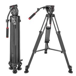 Heavy Duty Video Tripod 77 inches Aluminum Alloy with 360 De
