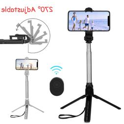 Adjustable Remote Selfie Stick Tripod Desktop Stand Desk Hol