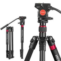 Neewer Aluminum Alloy 2-in-1 DSLR Camera Tripod 180cm with F