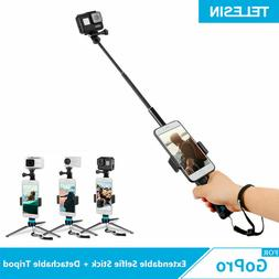 TELESIN Aluminum Alloy Extendable Selfie Stick for GoPro & O
