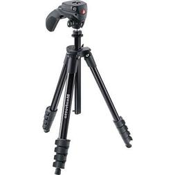 Manfrotto Compact Action Aluminum Tripod, Black #MKCOMPACTAC