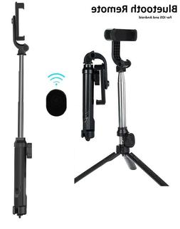 extendable wireless tripod selfie stick for iphone
