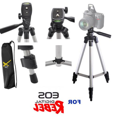"""50"""" PROFESSIONAL TRIPOD WITH QUICK RELEASE FOR CANON EOS REB"""