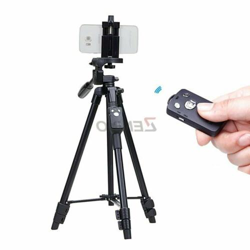 5208 light weight aluminum tripod bluetooth remote