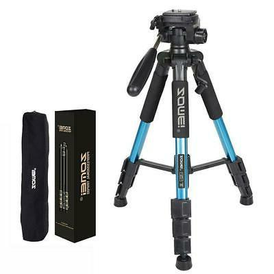 55 professional adjustable height photography camera tripod