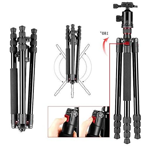 Neewer inches/162 Tripod Monopod with Degree Ball Quick Bag for Camera Video Camcorder up to 26.5 pounds/12