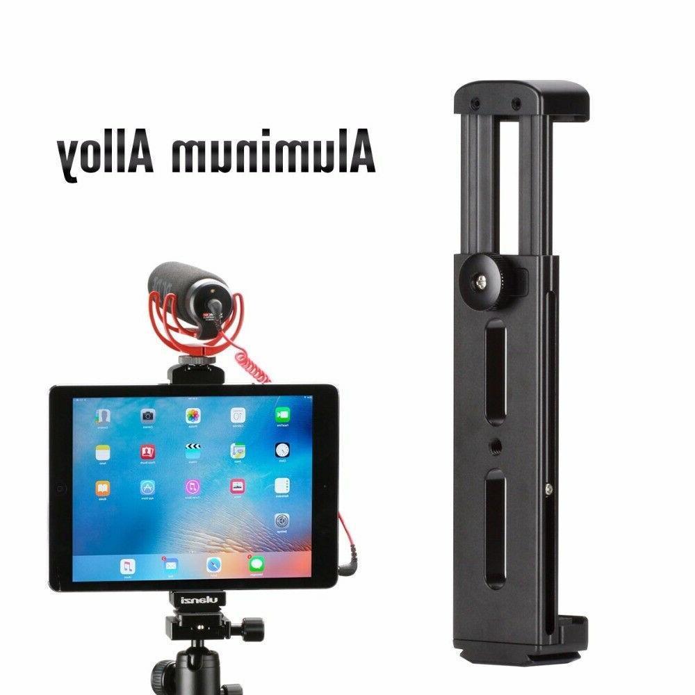 aluminum tablet tripod mount w cold shoe