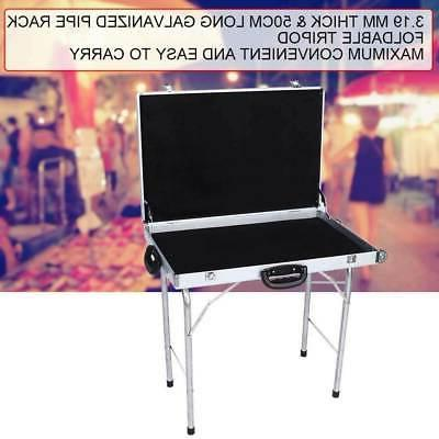 Foldable Alloy Storage Display Case with Tripod