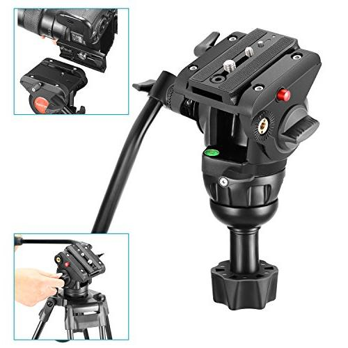 Neewer Heavy Video Tripod,64 Centimeters Alloy 360 Degree Head,1/4 and Shoe up 17.6