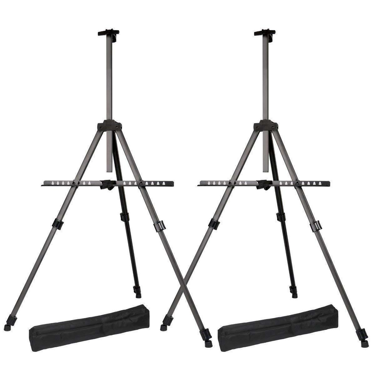 tripod aluminum table top and floor easel