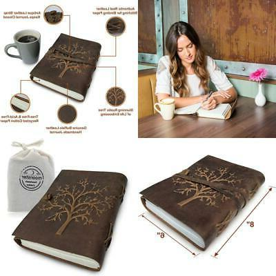 vintage antique tree of life leather journal