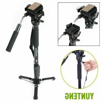 yunteng tripod monopod and fluid pan head
