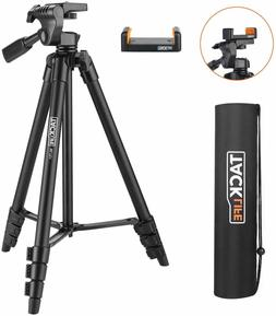 Lightweight Tripod 55-Inch, Aluminum Travel/Camera/Phone Tri