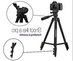 """NEW 50"""" Pro Agfaphoto Pro Tripod With Case For Canon EOS R"""