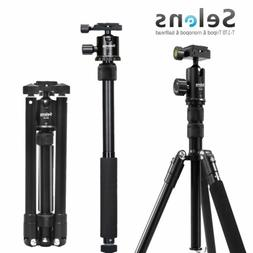 "Travel Portable 62"" Tripod & Monopod W/ Ball Head for Camera"