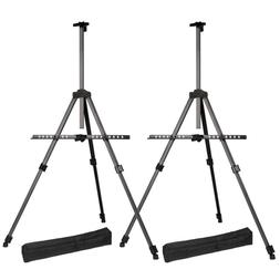 Transon Tripod Aluminum Table Top and Floor Easel Stand 65""