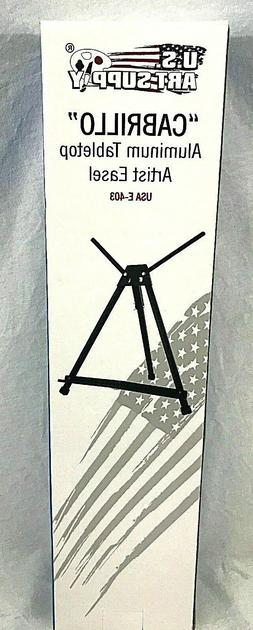 US Art Supply 19'' Tall Aluminum Tripod Tabletop Artist Disp